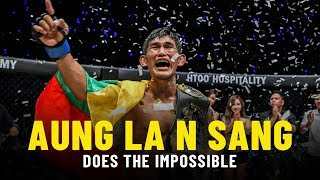 Aung La N Sang Does The Impossible