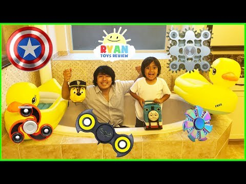 FIDGET SPINNER SURPRISE TOY HUNT CHALLENGE! New rare spinners toys for kids family fun activities thumbnail
