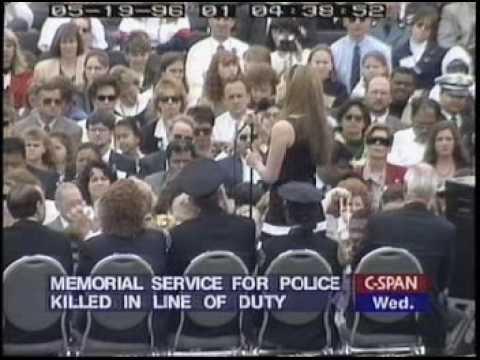Mariah Carey - Hero - Peace Officer's Memorial Service, 1996 video