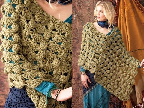 40 Bulky Poncho, Vogue Knitting Crochet 2012 - YouTube
