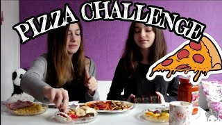 PIZZA CHALLENGE with my sister