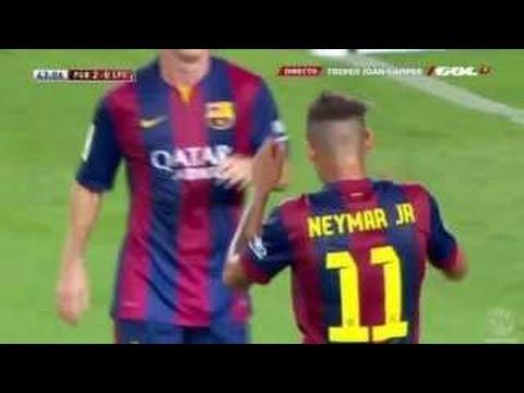 Neymar JR. vs Club LEON First 2014 Match [18.08.2014]