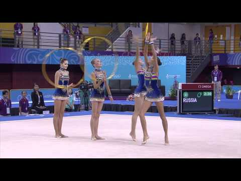 Women's Group Final - Rhythmic Gymnastics - Singapore 2010 Youth Games