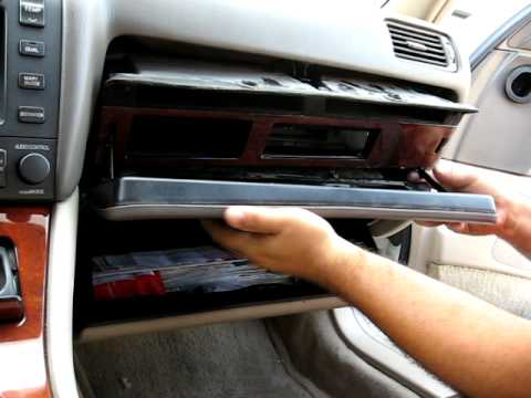 how to remove radio   cd changer from 2002 lexus es300 for