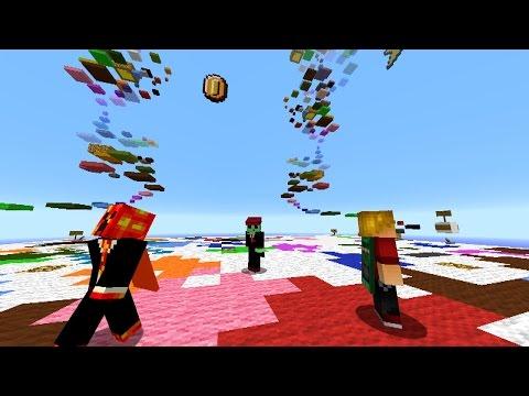 Minecraft RAINBOW PARKOUR RACE with Vikkstar, Pete, Preston & Lachlan (Minecraft Parkour Race)
