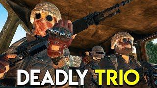 DEADLY TRIO! - PlayerUnknown's Battlegrounds (PUBG)