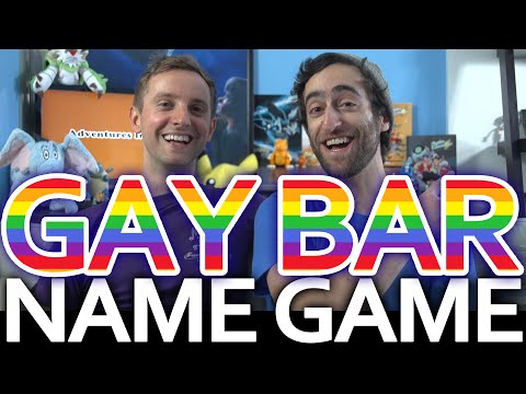 2 GAYS ON A COUCH: GAY BAR NAME GAME!