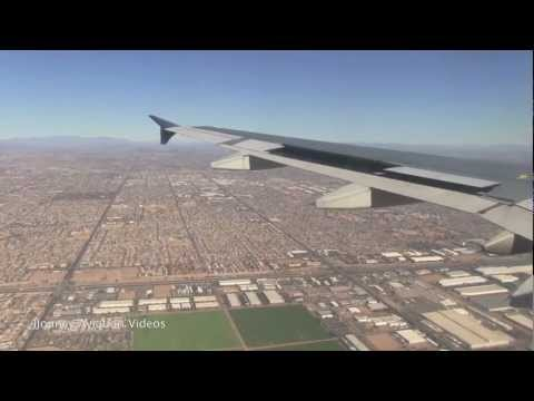 US Airways A320 Landing PHX Sky Harbor - Nice View!