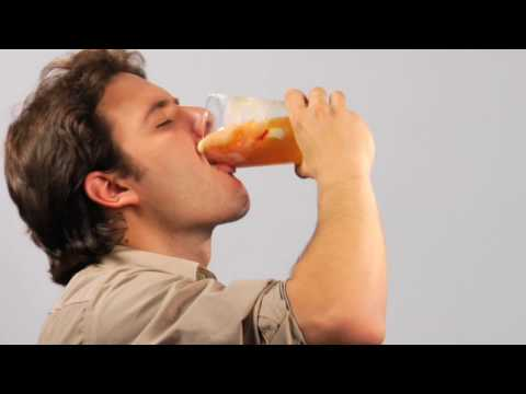 Man Drinking Fat. NYC Health Anti-Soda Ad. Are You Pouring on the Pounds?