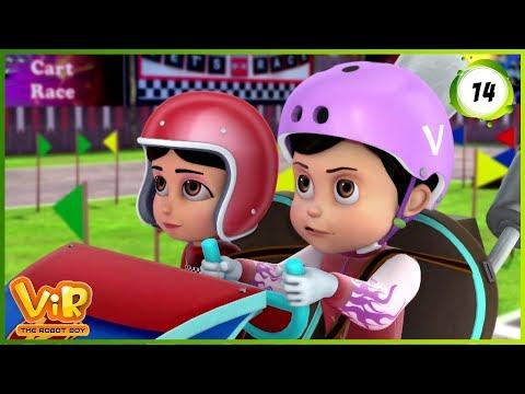 Vir: The Robot Boy   Go Kart Race  Action Show for Kids   3D cartoons