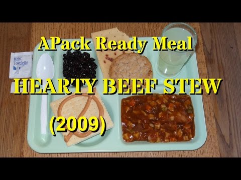 MRE Review: APack Hearty Beef Stew Ready Meal from Ameriqual (2009)