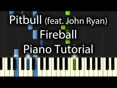 Pitbull feat. John Ryan - Fireball Tutorial (How To Play On Piano)