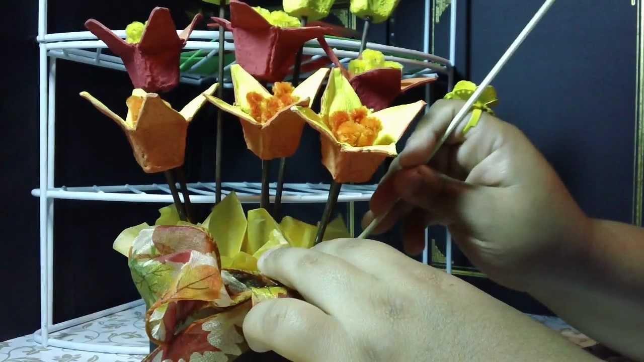 Thanksgiving centro de mesa recuerdo reciclado youtube - Centros de mesa para casa ...
