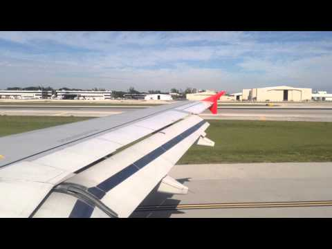 Spirit Airlines, A319, landing in Fort Lauderdale (HD)