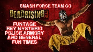 Dead Rising 3 - Funny Moments - Rey Mysterio, Police Weapon Armory, Floating Guns, Huge Explosions