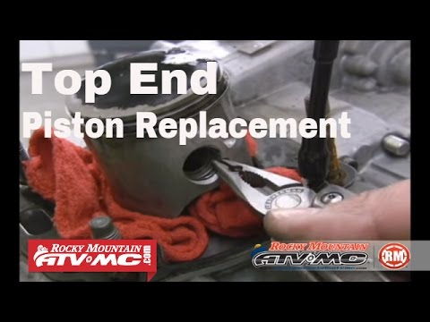 Motorcycle Top end piston and ring replacement - ATV piston
