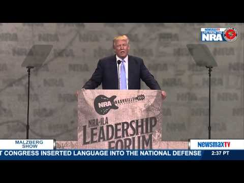 Malzberg   Donald Trump speaks at the NRA Convention