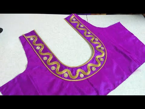 Easy blouse back neck designing at home || Womens fashion blouses