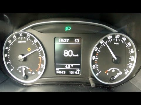 Skoda Octavia DSG 2013 1.6 TDI acceleration 0 - 100 km/h 105 bhp