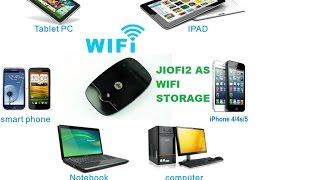 Reliance jiofi2 wifi router as wifi wireless storage device