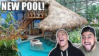 SURPRISING MY ROOMMATES WITH A NEW ALBOE HOUSE POOL!!