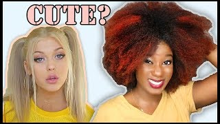 "I TRIED A WHITE GIRL'S ""FAVORITE HAIRSTYLES"" [Loren Gray]  from Viv HairTherapy"