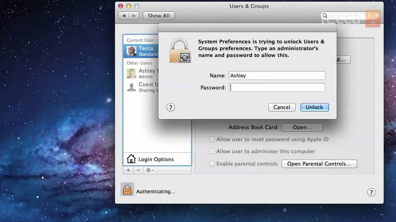 how to change your password to enter on a mac