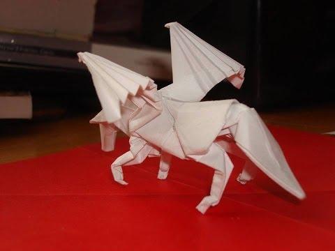 Пегас оригами схема