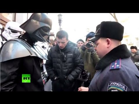 Darth Vader, Imperial troopers storm Ukraine's Justice Ministry