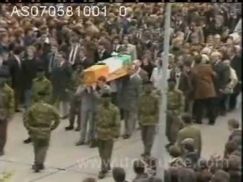 Bobby Sands Funeral Original Footage