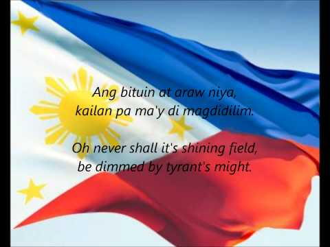 Philippine National Anthem - lupang Hinirang (tl en) video