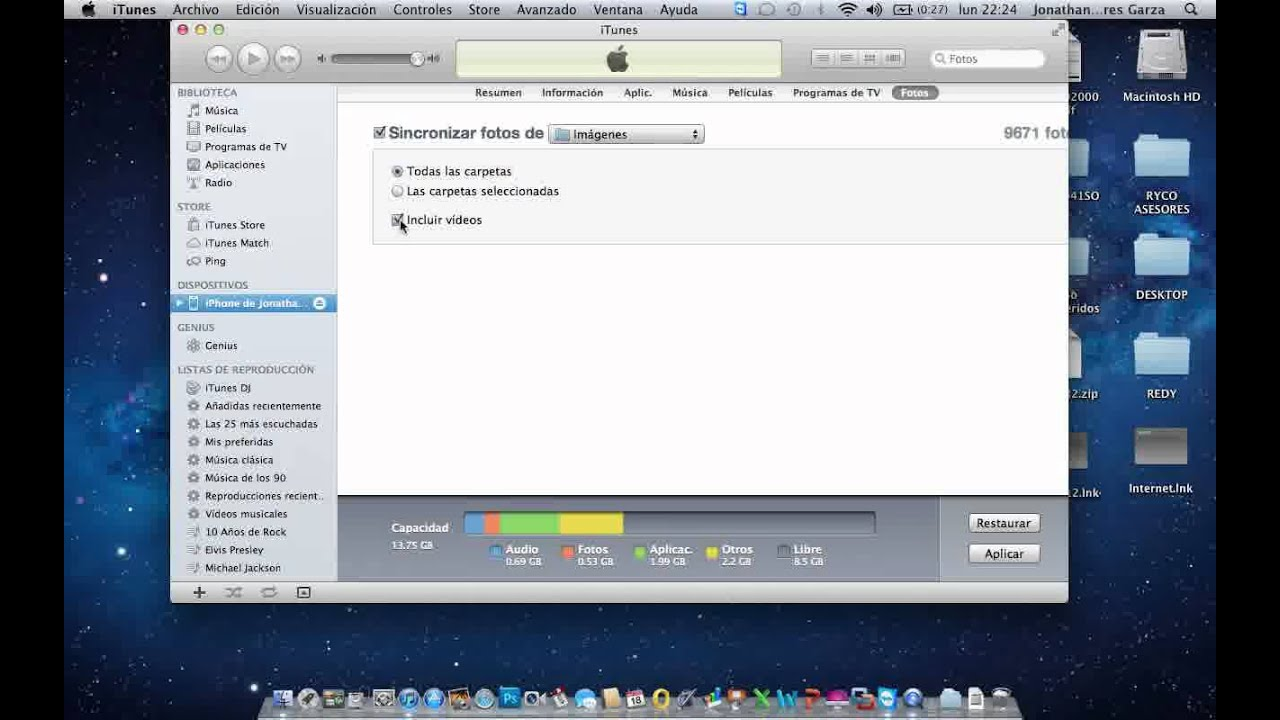 Pasar fotos de iPhone a iTunes - YouTube
