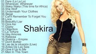 Shakira All Songs 2017  Shakira Greatest Hits Play