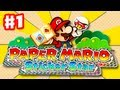 Paper Mario Sticker Star - Gameplay Walkthrough Part 1 - Decalburg Intro (Nintendo 3DS)