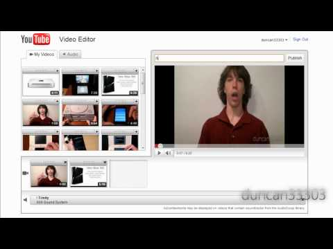 YouTube Video Editor Tutorial