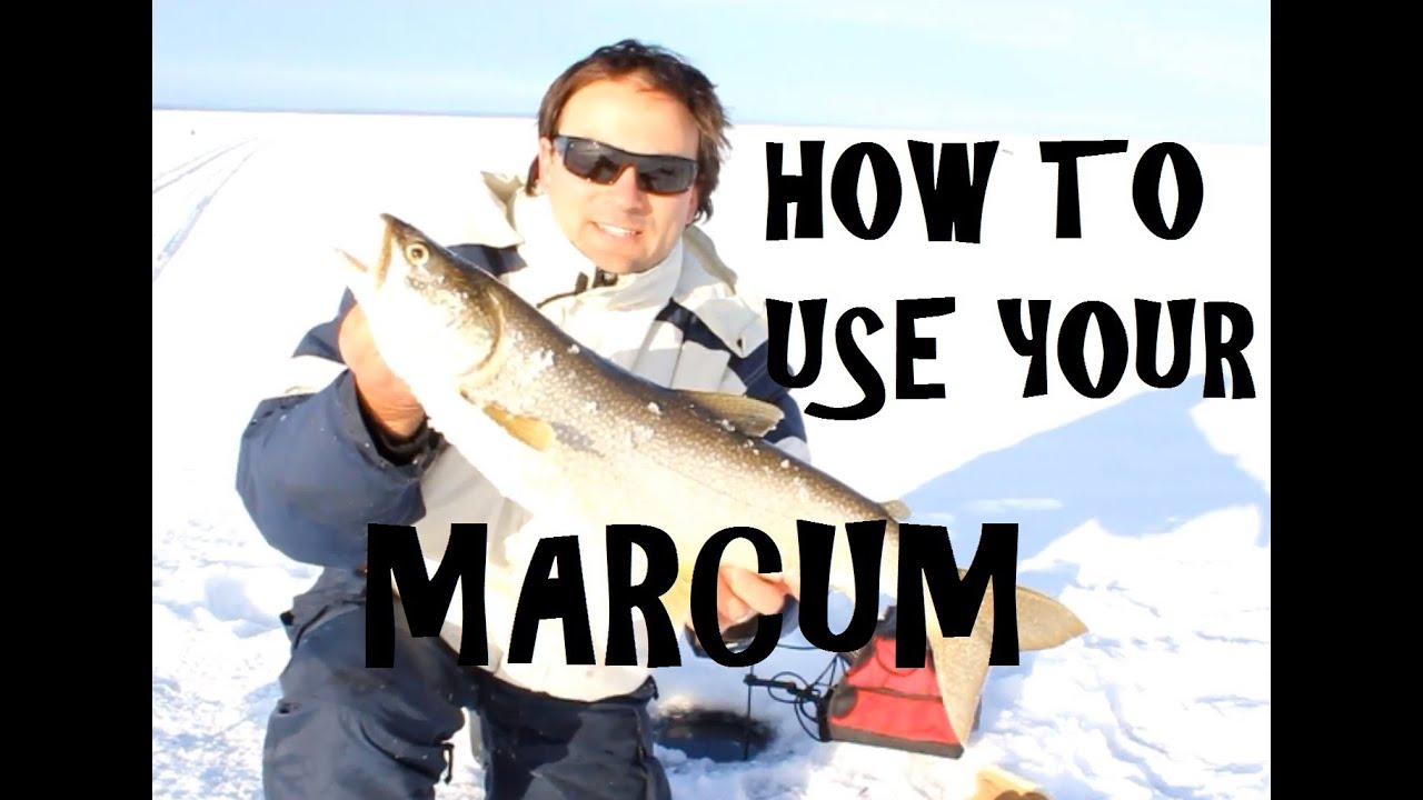 Marcum vx 1 pro flasher how to use a marcum for Ice fishing flasher