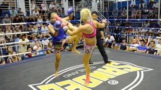 Katya PhuketTopTeam Russia vs Nongmaid Thailand Female Muay Thai fight 4 May 2016 Bangla Stadium