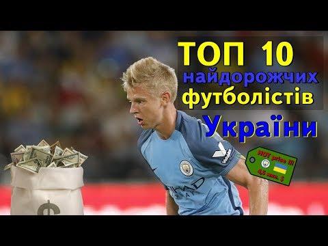 ТОП10 - Найдорожчі футболісти України (2017) | 10 найдорожчих футболістів українців | Липень 2017