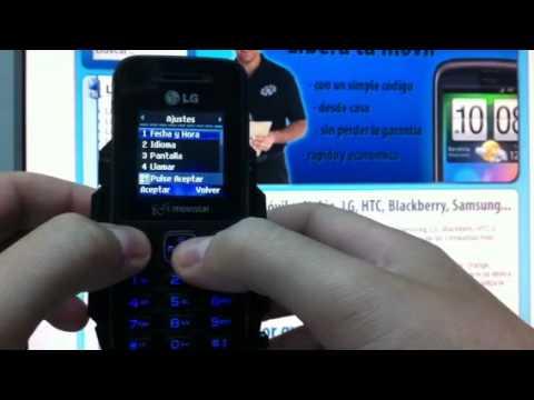 Liberar LG A100 por imei de Movistar y otras teleoperadoras