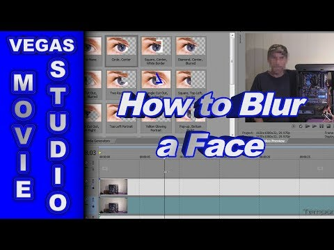 How to Blur Out Someone's Face using Sony Vegas Movie Studio HD Platinum 11
