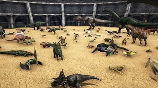 FREE FOR ALL - ARK Battle with all Creatures || Cantex