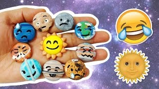 DIY EMOJI PLANETS IN SOLAR SYSTEM! Polymer Clay Tutorial