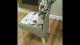 crushed velvet sparkly  dinning chair