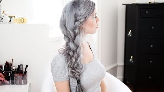 Double Side Braid / Dying extensions gray - VP fashion