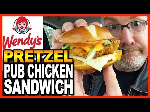 Wendy's Pretzel Pub Chicken Sandwich Review and Drive Thru Test