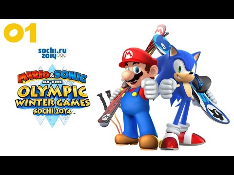 Mario & Sonic at the Sochi 2014 Olympic Winter Games - Типо Прохождение #01 (Wii U)