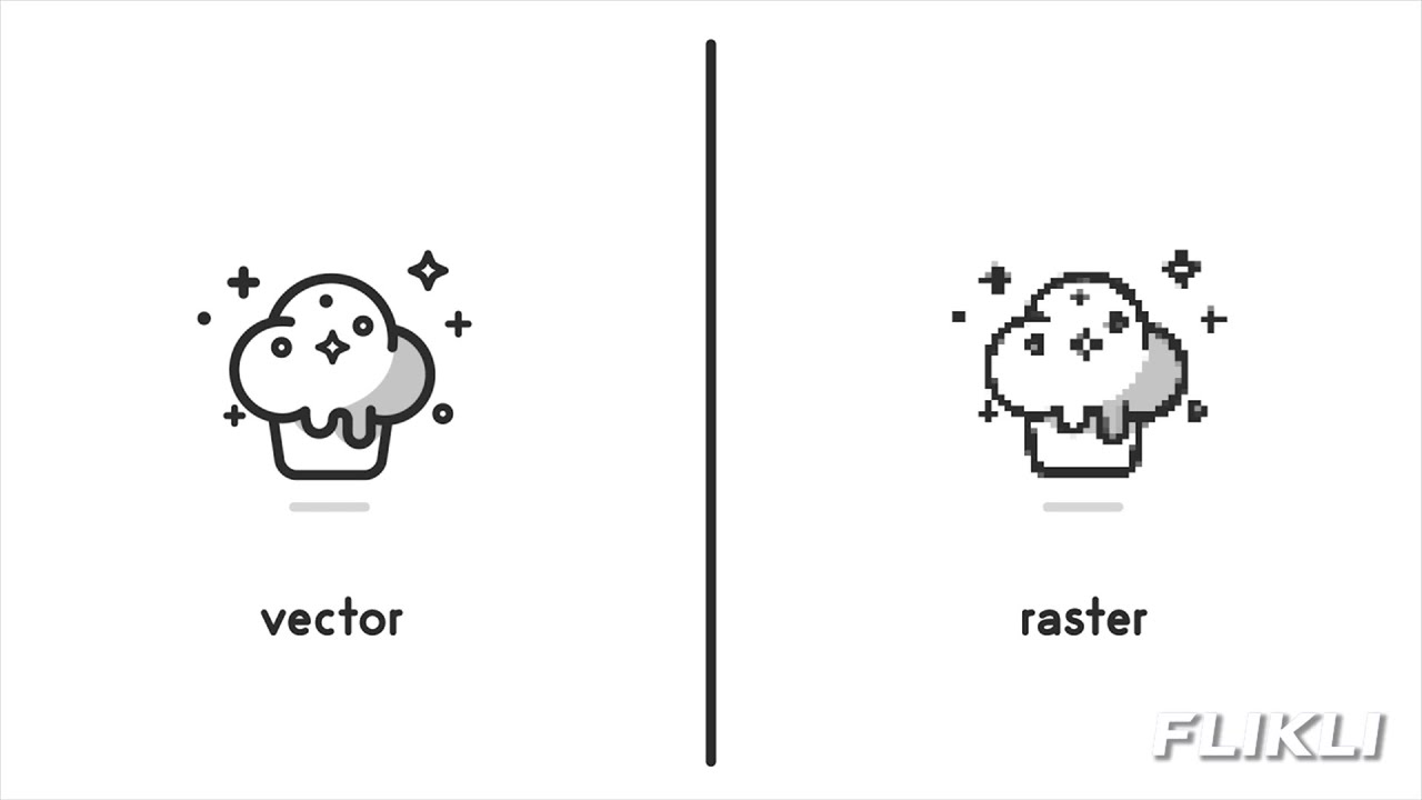 Marvellous difference between raster and vector pics