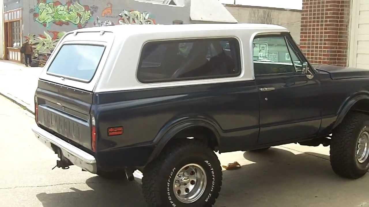 Restored 1972 Chevrolet Blazer Custom 4x4 Youtube
