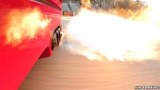Ferrari F40 with Tubi Style Spitting Flames + OnBoard