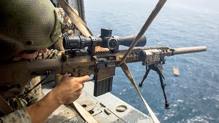 US Snipers Shooting with the Monstrously Powerful Rifles: M107 Barrett, M110, M40A5
